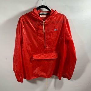 Lacoste | Vintage Red Rain Jacket Blue Gator Sz M